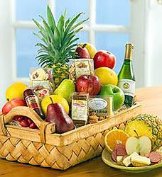 Abundant Fruit and Gourmet Basket